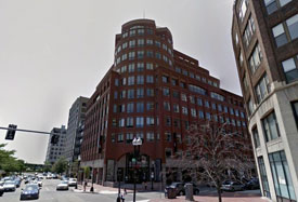 Office space at WeWork in Boston Seaport on Atlantic Ave.