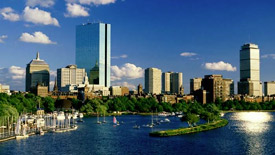 Boston office buildings across the charles river