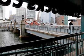 Congress St. Bridge in Boston Seaport