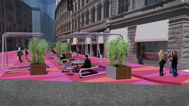 Downtown crossing plaza rendering