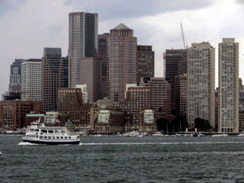 Ferry in Boston Harbor