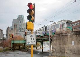 Greenline train in Boston