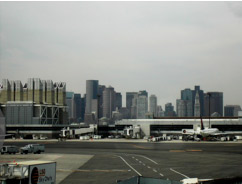 logan airport with office space in the background