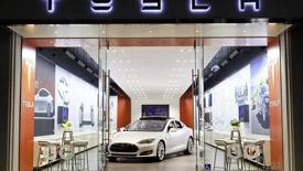 Tesla retail store in Back Bay