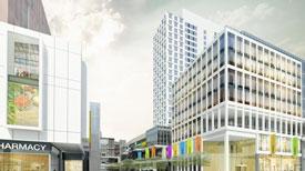 Rendering of TRemont crossing office building