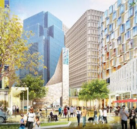 proposed buildings in Winthrop Square in Boston's financial district