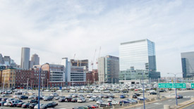 Seaport parking lot near South Boston waterfront